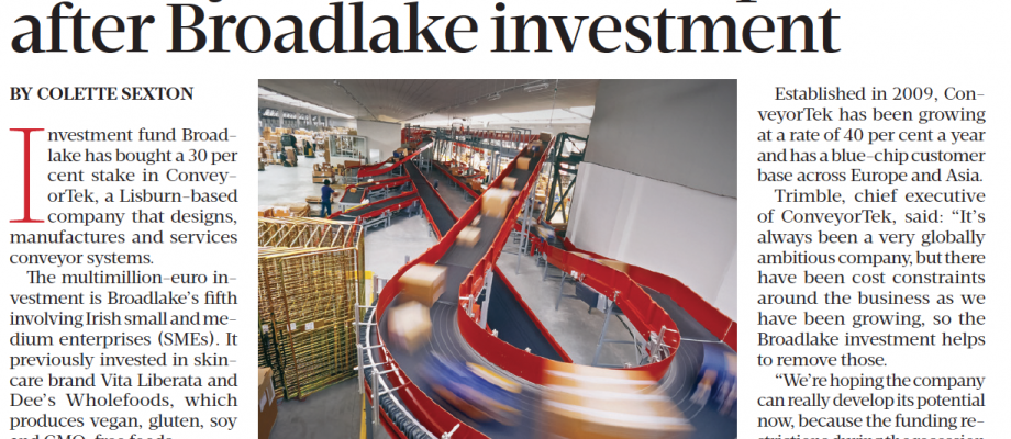Conveyor firm set for expansion after Broadlake investment – Sunday Business Post