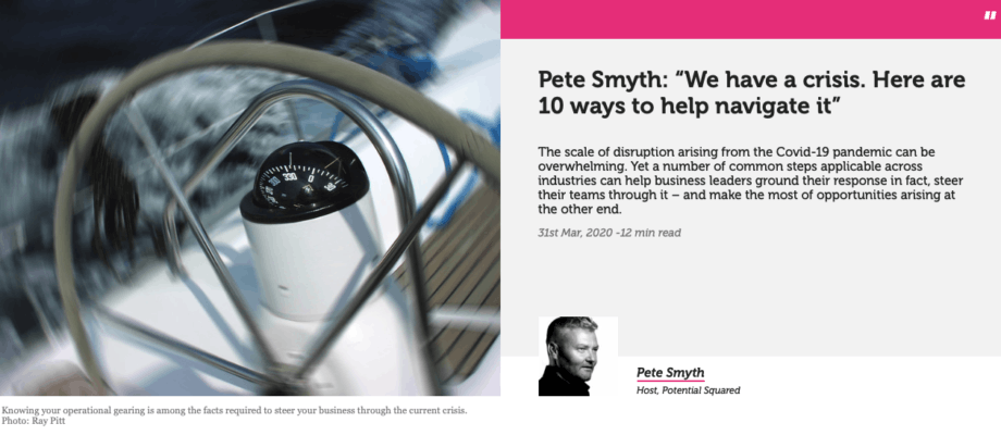 Pete Smyth – We have a crisis. Here are 10 ways to help navigate it